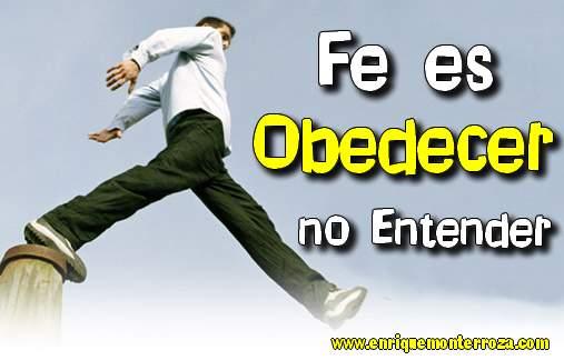 fe es obedecer