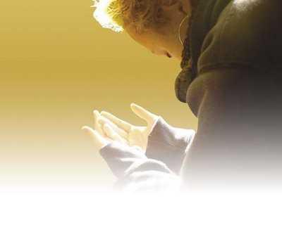 orando a solas