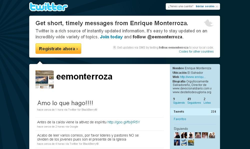Twitter Enrique Monterroza