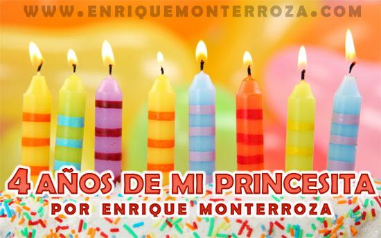 4 Años De Mi Princesita Enrique Monterroza Sitio Oficial